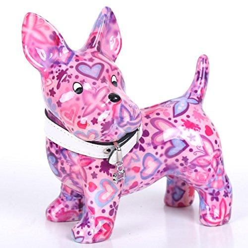 pomme-pidou-spardose-aus-keramik-boomer-der-hund-rosa-herzen