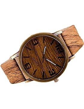 SAMGU Fashion New Wood Grain Uhren Mode Quarz Uhr Armbanduhr Geschenk