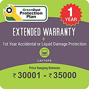 GreenDust Protection Plan for Laptops (Rs. 30001-35000), 1 year-Delivery by Email