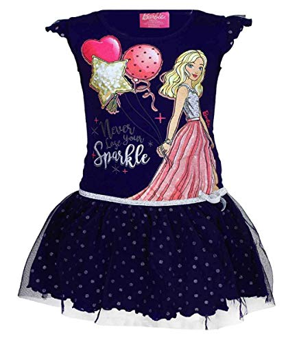 April Fashion Mädchen Offiziell Lizenzierte Barbie Cotton-Kostüm-Kleid Alter 5 Jahre