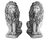 Sonderangebot: Herrliches Löwen Paar Torwächter aus Steinguss, frostfest
