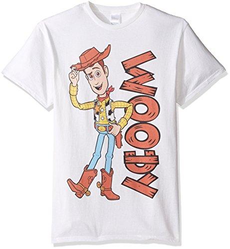 Baby Disney Woody Story Kostüm Toy - Disney Herren T-Shirt Toy Story Woody - Weiß - XX-Large