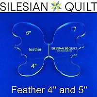 Plantilla para quilting Feather 4 y 5 pulgadas