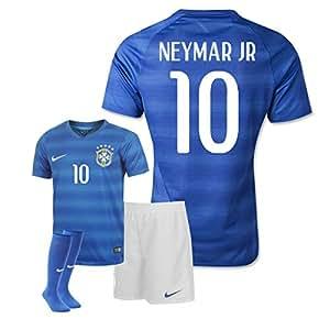 2014-15 Brazil World Cup Away Mini Kit (Neymar JR 10)