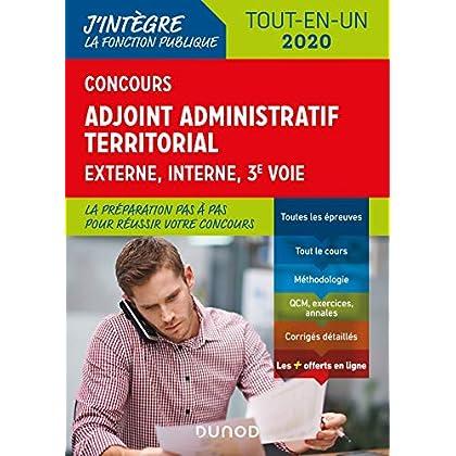 Concours Adjoint administratif territorial - Tout-en-un - Externe, interne, 3e voie - 2020