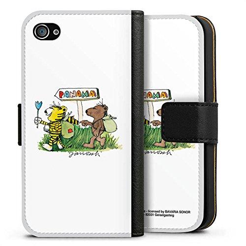 Apple iPhone X Silikon Hülle Case Schutzhülle Janosch Fanartikel Merchandise Panama Sideflip Tasche schwarz