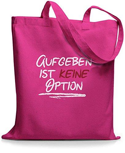 StyloBags Jutebeutel / Tasche Aufgeben ist keine Option Pink