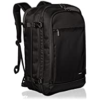 AmazonBasics Carry-On Travel Backpack, Black