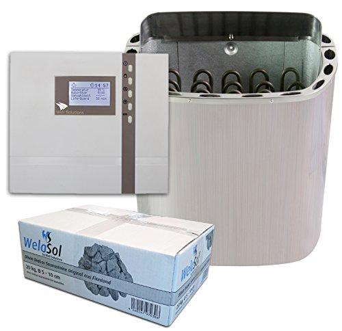 Well Solutions Saunaofen Scandia Next 6 kW mit EOS Saunasteuerung ECON D2