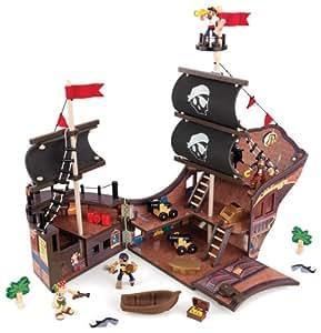 KidKraft - 63234 - Véhicule Miniature - Pirate - Bateau de Pirates