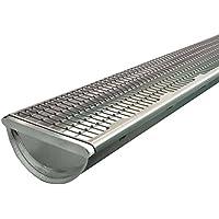 10 meter Dachrinnenschutz Laubstop, Elementlänge 1 meter, Farbe grau für Zinkdachrinnen 514580005