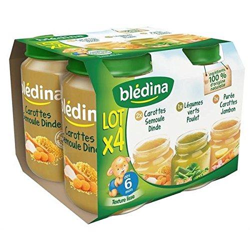 Bledina pots sales lot 4x200g carotte semoule dinde, purée car jambon, leg vr - ( Prix Unitaire ) - Envoi Rapide Et Soignée