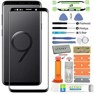 Acenix Ersatzdisplay für Samsung Galaxy S9, inkl. UV-Kleber und Öffnungswerkzeug