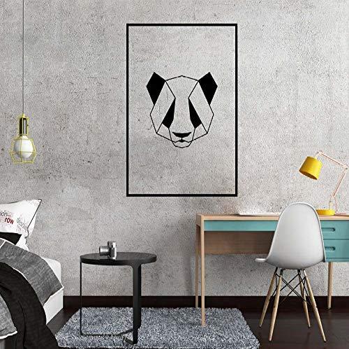 TYLPK Nordic Art Geometric Panda Wandaufkleber Wohnzimmer Büro Dekoration Abnehmbare Aufkleber Vinyl Kunst Wandaufkleber braun 30X41 CM
