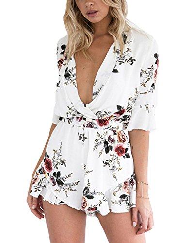 Minetom Beachwear Pantalones Cortos Mujer Mini Dress Vestido Mono Mini Ocasional Del...