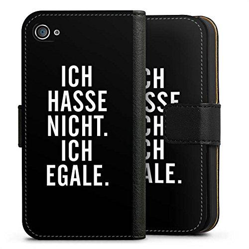 Apple iPhone X Silikon Hülle Case Schutzhülle Humor Egal Sprüche Sideflip Tasche schwarz
