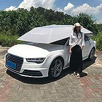 Carpa automática para el Techo del automóvil, toldo móvil para el automóvil Sombrilla Sombrilla Impermeable Toldo a Prueba de Polvo con Control Remoto, Plateado y Gris