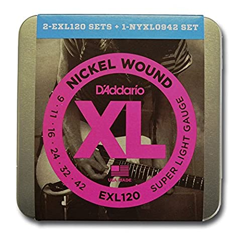 D'Addario Limited Edition Electric String Tin with 2x EXL120 9-42