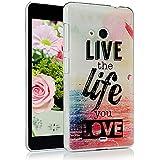Nokia Lumia 535 Funda - Lanveni Chic Elegante Carcasa rígida ultrafina para Microsoft Lumia 535 Transparente Hard Case - Patrón Mar Diseño