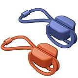 Bluelounge PIXI S - Organizador multiuso, 8 unidades, color azul y naranja, talla S