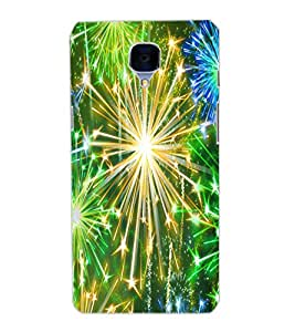 ONE PLUS THREE SPARKLE Back Cover by PRINTSWAG
