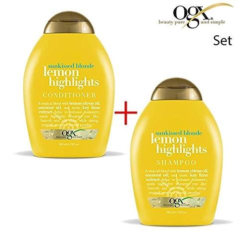 OGX Organix–Sunkissed Blonde Lemon 1x Shampoo + Conditioner
