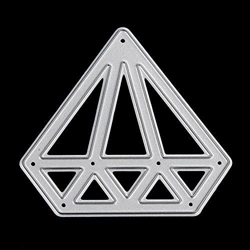 Qinpin 2018 Metall Stanzschablone Prägeschablone für DIY Scrapbook Album Papier Karte Basteln Dekoration Zuhause Geschenke, Karbonstahl, D, Einheitsgröße