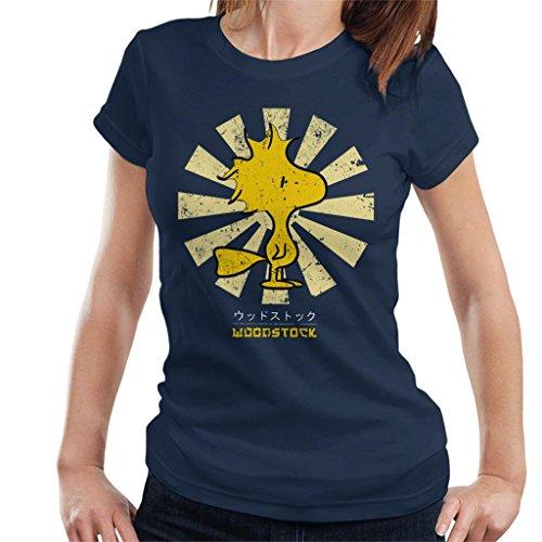 Peanuts Woodstock Retro Japanese Women's T-Shirt -