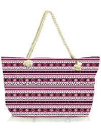 Snoogg Loud Aztec Pink And Black Women Anchor Messenger Handbag Shoulder Bag Lady Tote Beach Bags Blue