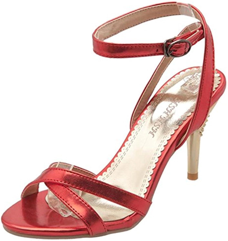 RAZAMAZA Mujer Zapatos Mode Cross Strap Al Tobillo Tacón De Aguja Sandalias -