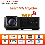 """[2018 Upgraded] Luxcine CM2 Smart WiFi Full HD 1080P 3200 Lumens LED Home Cinema Projector With Miracast Airplay 200"""" Display"""