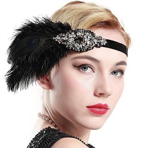 ArtiDeco 1920s Feder Stirnband 20er Jahre Stil Art -