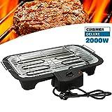 CUISINIER DELUXE Barbecue Grill Elettrico Da Tavolo 2000W Griglia Elettrica Party Con Termostato immagine