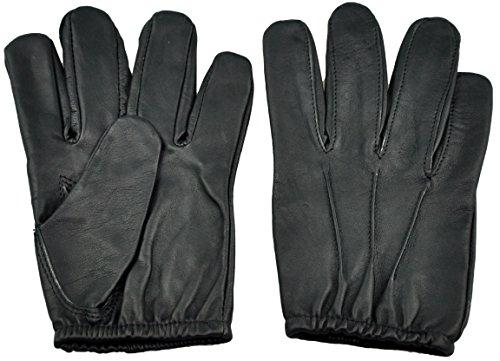 Schwarz Leder Motorrad Handschuhe Polizisten Bluf einheitliche (Leder Kinky)