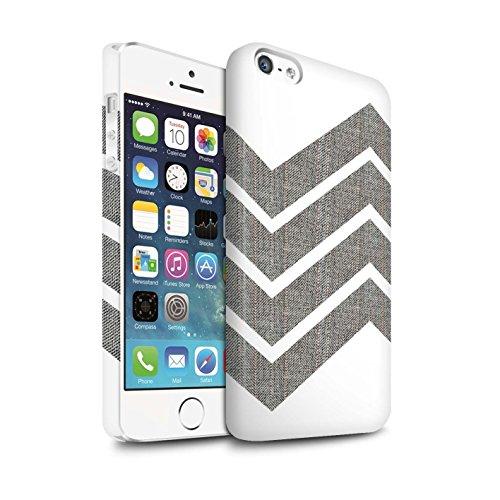 STUFF4 Matte Snap-On Hülle / Case für Apple iPhone 6S / Rosa Argyle Muster / Wintermode Kollektion Grauer Zickzack