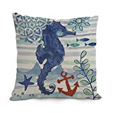NBQQXO Ocean Throw Pillow Covers 18x18 Inches / 18x18 cm Gift Or Decor for Seat,Floor,Divan,Bedding,Deck Chair,Dance Room - Double Sides