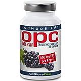 OPC extracto de semillas de uva intensivement–la más elevada Grapeseed Extract de dose–600mg OPC + 12mg Vitamina C par cápsulas–dos meses Cure–100% antioxidante natural–Calidad superior