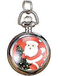 JSDDE Montres de Poche Montre Goussets Montre Simple Montre Vintage Cadeau pour la Fête de Noël