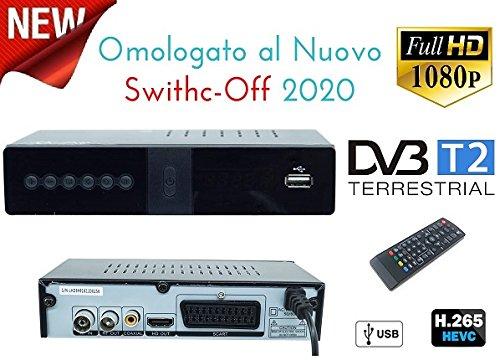 DECODER RICEVITORE DIGITALE TERRESTRE H265 DVB-T2 TV SCART HDMI 1080P REG PVR HD 1080P Full HD 1080P DVB-T2 HEVC H.265/ MPEG/ HDMI/ SCART/