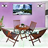 VK Furniture Sheesham Wood Foldable Patio Dining Set | for Balcony, Garden and Outdoor | 4 Chairs and Table | Brown