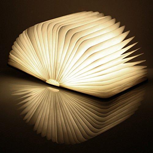 comprare on line lampade libro USB ricaricabile pieghevole in legno magnetico LED Light del libro di lamp - 2500mAh batterie al litio scrivania lampada da tavolo prezzo