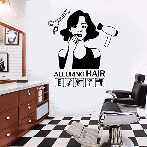 Barber Shop Wandaufkleber Dekorative Wandtattoo Pvc Wanddekorkunst Aufkleber Wandvinyl Dekorative Tapete 1 L 58 cm X 64 cm (Ams Software)