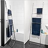 bremermann® Toallero con 4 barras para toallas para montaje en pared