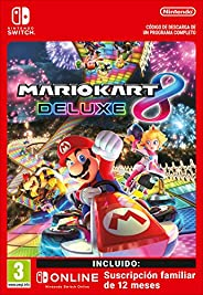 Mario Kart 8 Deluxe + 12 Meses Switch Online Familia Limited Edition | Nintendo Switch - Código de descarga