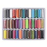ROSENICE Nähgarn Set Polyester Nähmaschinengarn Sortierte Farben - 39 Stücke