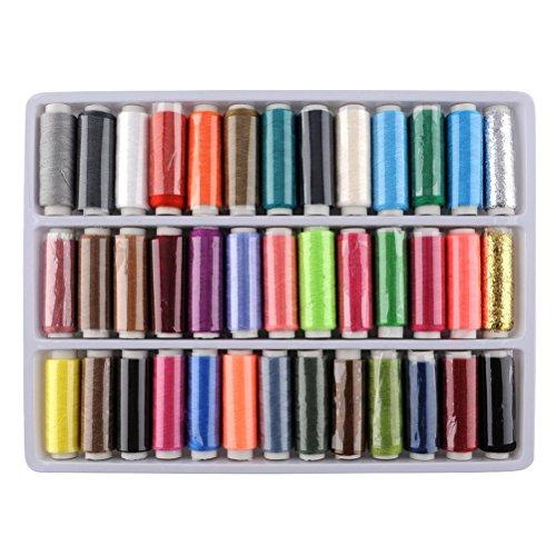 WINOMO Pacco di filato di poliestere 150M 39 colori bobine filo da cucito di stringhe