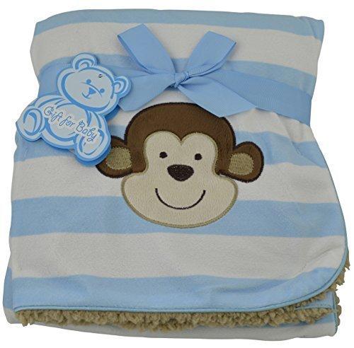 little-mimos-baby-sherpa-decke-mit-monkey-design