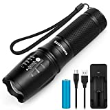 Led Torch, BINWO High Power Rechargeable Torches Super Bright 2500 Lumen, 5 Modes