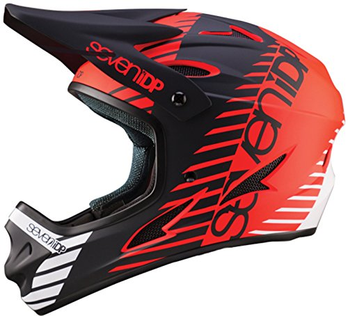 Seven M1Tactic Helm MTB Integral Unisex, uni, M1 Tactic, rot / schwarz / weiß