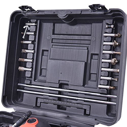 12er Oberfräse Fräsmaschine Hand Kanten Fräser mit Fräsköpfe 230V Kabelkanal 1500W mit Koffer - 5